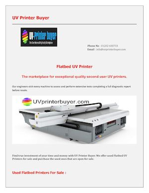 Uv Flatbed Printers For Sale