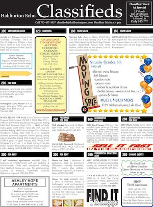 Classifieds October 4, 2016
