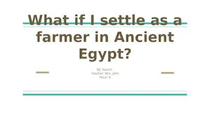 What If I Settle As A Farmer In Ancient Egypt