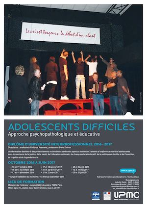 DU Adolescents Difficiles - UPMC Formation Continue