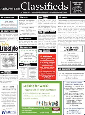 Classifieds October 11, 2016