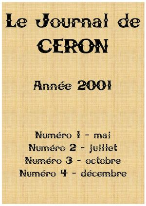 2001 - Le journal de Céron