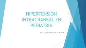 Hipertensión intracraneal presiones de apertura