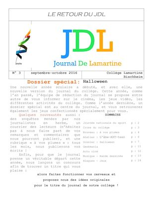 JDL n°3 Sept-octobre 2016