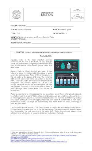 Calaméo Seventh Grade Worksheet September