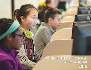 2016 Greenhills School Annual Donor Report