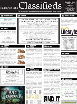 Classifieds October 25, 2016