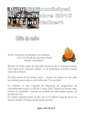 Bulletin Municipal n°22 - Octobre 2010