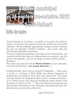 Bulletin Municipal n°35 - Septembre-Octobre 2012