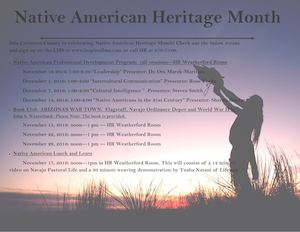 Native American Heritage Month 11 4 16