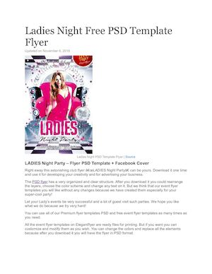 Ladies Night Free Psd Template Flyer