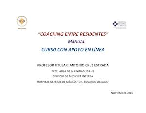 Curso Coaching Entre Residentes Manual Antonio Cruz Estrada