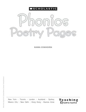 Phonics Poetry Pages4k