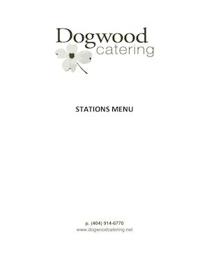 Dogwood Stations Menu 1
