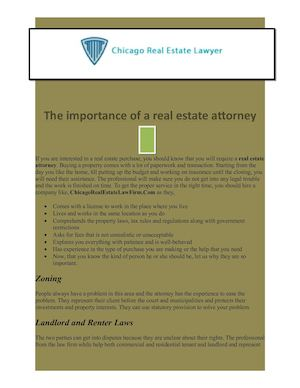 The Importance Of A Real Estate Attorney