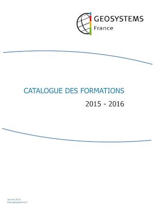 Catalogue des Formations 2016 - Photogrammétrie et télédétection