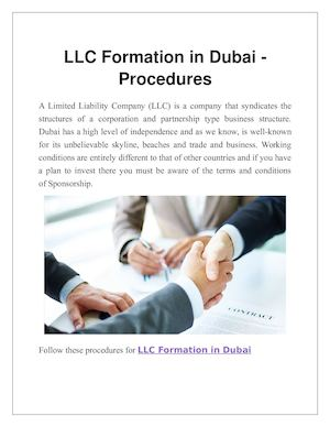 Llc Formation In Dubai
