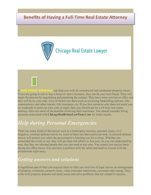 A Real Estate Attorney Can Help You With All Commercial And Residential Property Issues