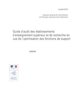 Guide Audit Fonction Support