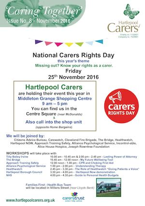 Hartlepool Carers Newsletter No 8 Nov 2016