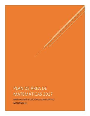 Calaméo - Plan De ÁRea Matemáticas 2017