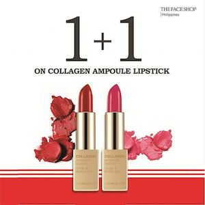 Buy 1 Free 1 Collagen Ampoule Lipstick At Thefaceshop Valid From November 14 20 2016 87424