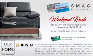Enjoy Up To 50 Off On Selected Items At Our Home Valid From November 18 20 2016 87426