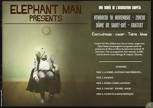 """Elephant man presents""  - Dossier Presse"