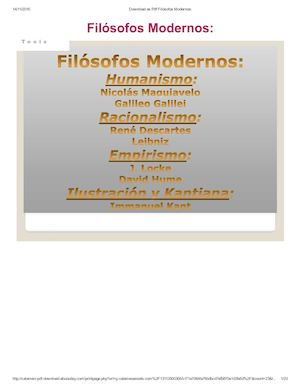 Download As Pdf Filósofos Modernos