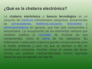 Chatarra Electronica Ppt