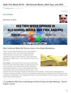 Seo This Week Ep10 Old School Media Seo Tips And Ppc