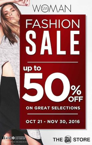 Enjoy Up To 50 Off At The Sm Stores Woman Fashion Sale Valid Until November 30 2016 87492
