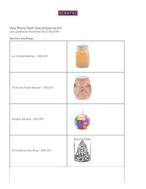 Scentsy Flash Sale Items