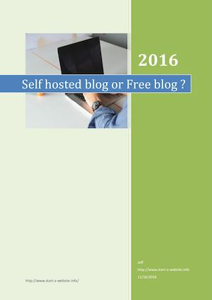 Selfhosted wordpress blog or blogger free blog