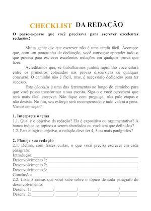 Calaméo - Checklist Redacao Perfeita