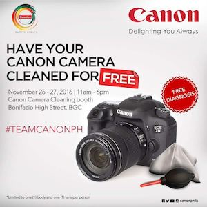 Have Your Canon Camera Cleaned For Free At Bonifacio High Street Bgc On November 26 27 2016 87758