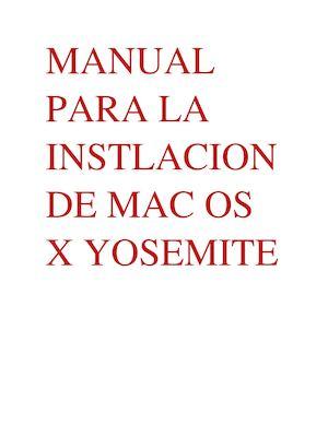 Mac yosemite manual pdf