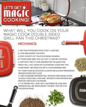 Get A Chance To Win A Free Magic Cook Double Sided Cook Pan From Cost U Less Until Dec 22 2016 87859