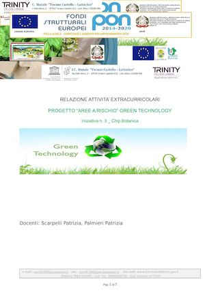 Progetto Green Tecnology