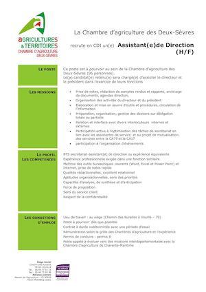 Calamo  Icssa  Offre DEmploi Assistante De Direction  Urgent