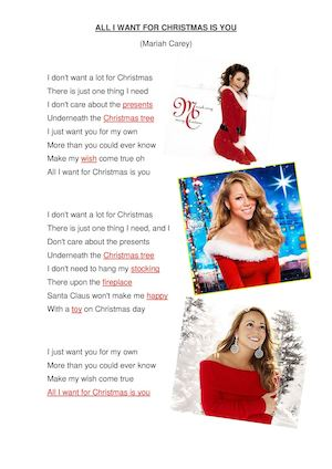 all i want for christmas lyrics - All I Want For Christmas Is You Mariah Carey Lyrics
