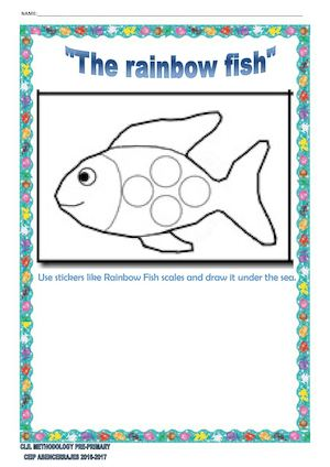 photograph relating to Rainbow Fish Printable identify Calaméo - The Rainbow Fish Worksheets
