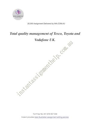Dissertation of tesco