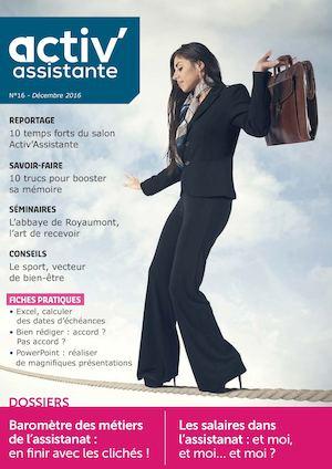 Activ Assistante Magazine Numéro 16 Décembre 2016