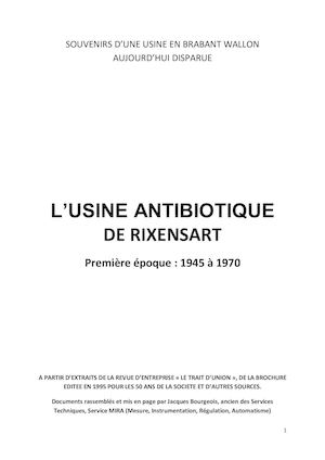 Usine Antibiotique De Rixensart