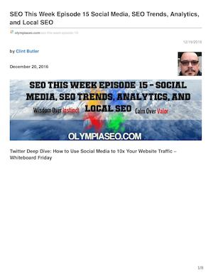SEO This Week Episode 15 Social Media SEO Trends Analytics And Local SEO