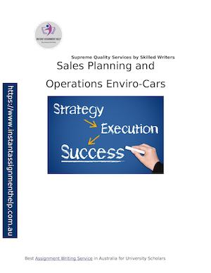 Sales Planning And Operations Enviro Cars