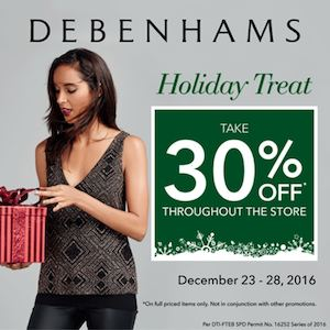Enjoy 30 Off On Regular Priced Items At Debenhams Valid Until December 28 2016 88494