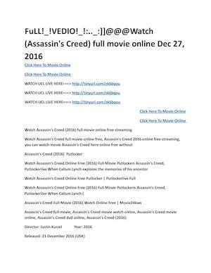 calaméo assassin s creed full movie online dec 27 20161 pdf