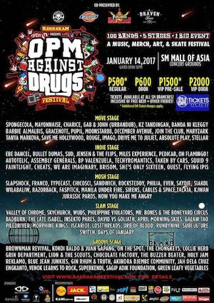 Get Your Tickets For The Opm Against Drugs Festival From Sm Tickets Valid Until January 14 2017 88516